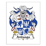 Anduaga Family Crest Small Poster