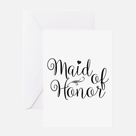 Maid of Honor Greeting Cards