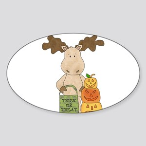 Moose Trick or Treat Sticker