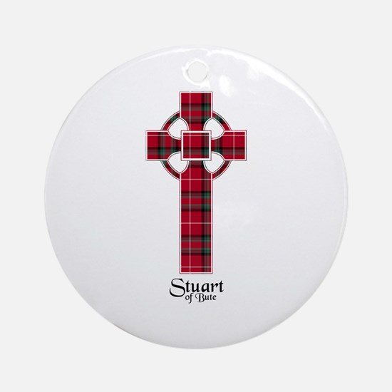 Cross-StuartBute Round Ornament