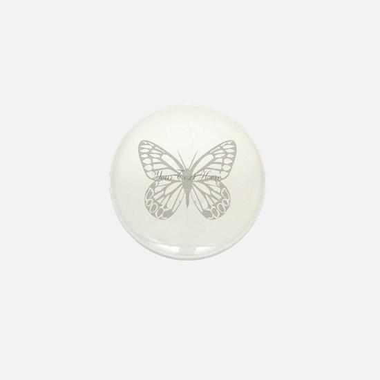 Cute Grey Butterfly Mini Button