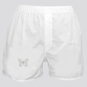 Cute Grey Butterfly Boxer Shorts