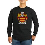Ampurias Family Crest Long Sleeve Dark T-Shirt