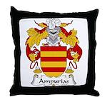Ampurias Family Crest Throw Pillow