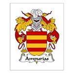 Ampurias Family Crest Small Poster