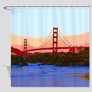 GoldenGateBridge20150821 Shower Curtain