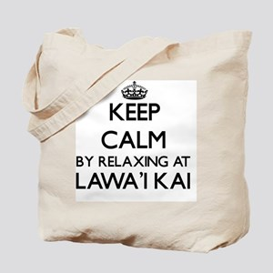 Keep calm by relaxing at Lawa'I Kai Hawai Tote Bag