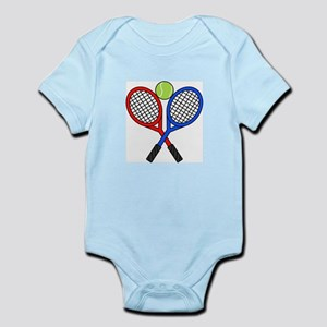 CROSSED TENNIS RAQUETS Body Suit
