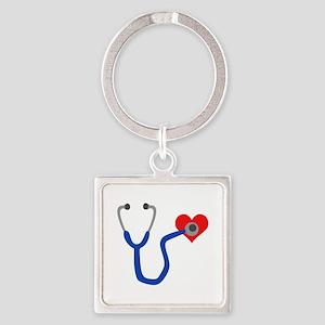 HEART STETHESCOPE Keychains
