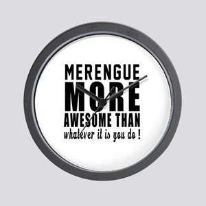 Merengue more awesome designs Wall Clock