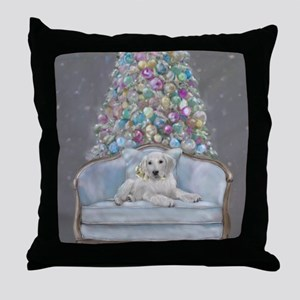 Blue Christmas Throw Pillow