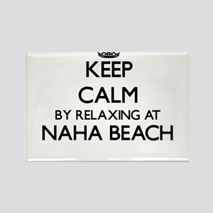 Keep calm by relaxing at Naha Beach Hawaii Magnets