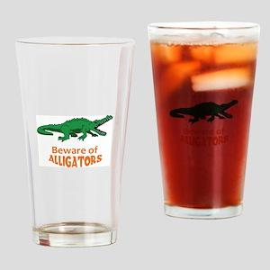BEWARE OF ALLIGATORS Drinking Glass