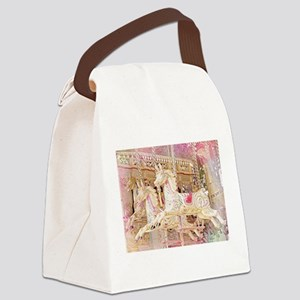Merry-go-round pink Canvas Lunch Bag