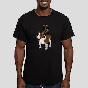 Bulldog in Antlers T-Shirt