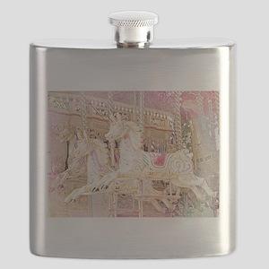 Merry-go-round pink Flask