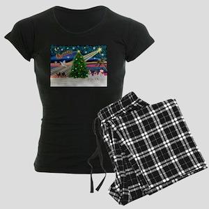 XMASMAGIC-JackRussellPAIR2 Pajamas