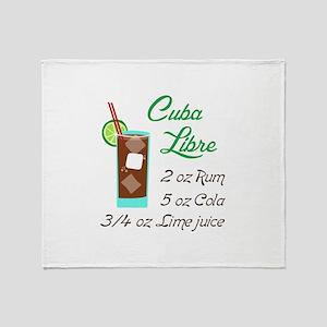 RETRO CUBA LIBRE Throw Blanket