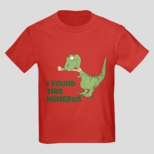 Cartoon Dinosaur Kids Dark T-Shirt