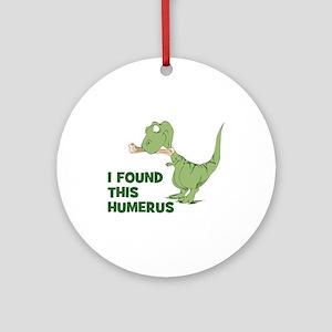 Cartoon Dinosaur Round Ornament