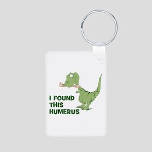 Cartoon Dinosaur Aluminum Photo Keychain
