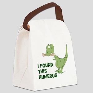 Cartoon Dinosaur Canvas Lunch Bag