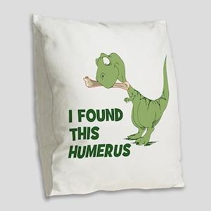 Cartoon Dinosaur Burlap Throw Pillow