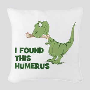 Cartoon Dinosaur Woven Throw Pillow