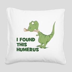 Cartoon Dinosaur Square Canvas Pillow