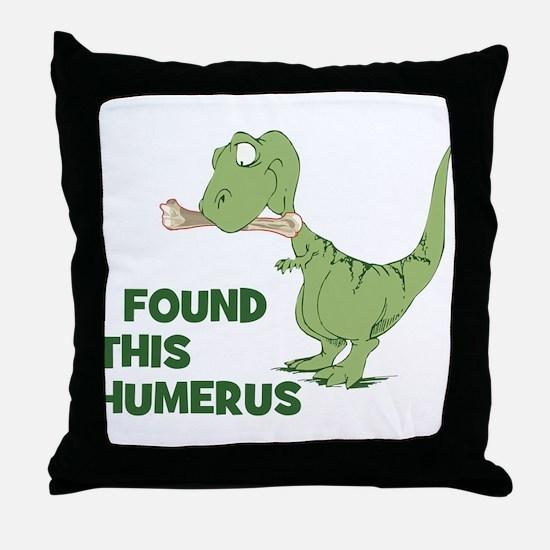 Cartoon Dinosaur Throw Pillow