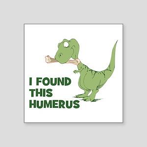 "Cartoon Dinosaur Square Sticker 3"" x 3"""