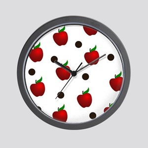 Apple rain pattern Wall Clock