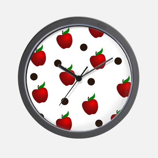 Apple rain pattern Wall Clock