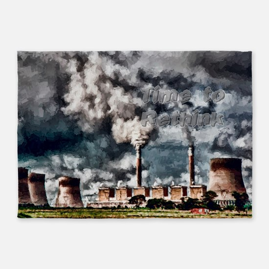 Environmental Pollution 5'x7'Area Rug