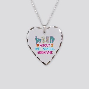 Wild About Pre-K Kids Back To Necklace Heart Charm