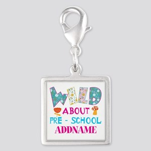 Wild About Pre-K Kids Back To Silver Square Charm