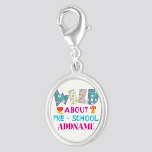 Wild About Pre-K Kids Back To S Silver Oval Charm