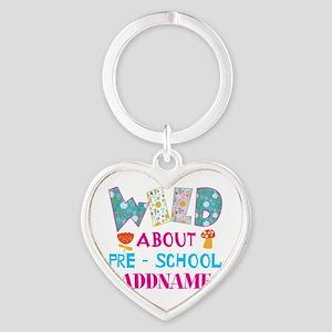 Wild About Pre-K Kids Back To Schoo Heart Keychain