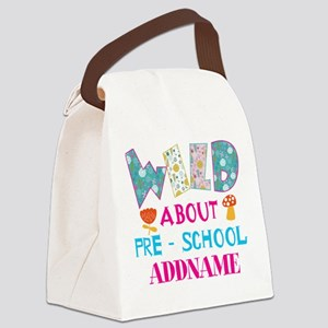 Personalized Retro Floral 1st Yea Canvas Lunch Bag