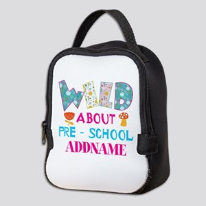 Personalized Retro Floral 1st Y Neoprene Lunch Bag