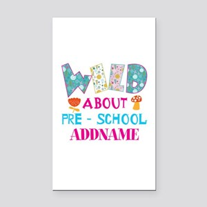 Wild About Pre-K Kids Back To Rectangle Car Magnet