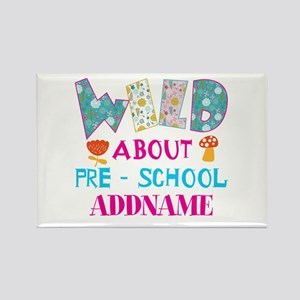 Wild About Pre-K Kids Back To Sch Rectangle Magnet