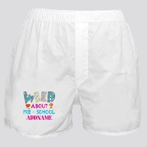 Wild About Pre-K Kids Back To School Boxer Shorts