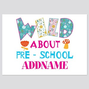 Wild About Pre-K Kids Back To Schoo 5x7 Flat Cards