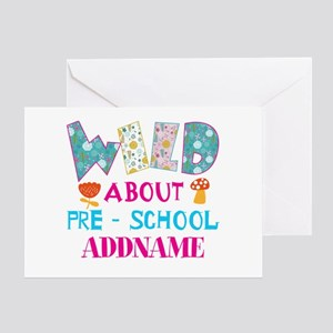 Wild About Pre-K Kids Back To School Greeting Card
