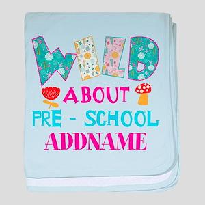 Wild About Pre-K Kids Back To School baby blanket