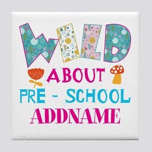 Wild About Pre-K Kids Back To School Tile Coaster