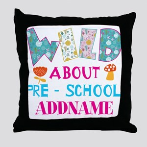 Wild About Pre-K Kids Back To School Throw Pillow