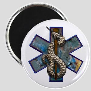 Rattlesnake Star of Life Magnet