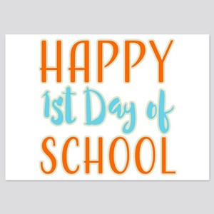 Happy 1st Day Of School 5x7 Flat Cards
